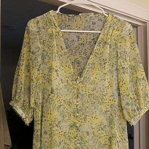 Mango Shear Flowy Floral Dress